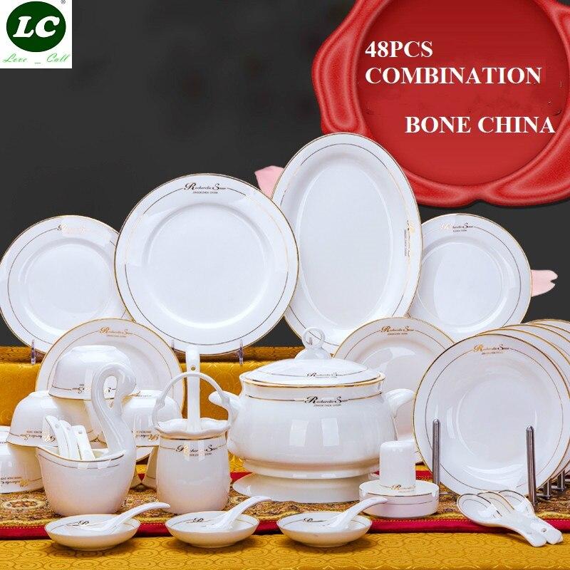 Service de tasses assiettes en porcelaine | Service de vaisselle de 48 pièces Service de cuisine, assiettes de tasses, Service de bols en porcelaine, bols assiettes de tasses de thé