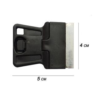 Image 5 - 5 pcs Mini Mão Raspador De Barbear com Lâminas de Aço Carbono de Idade filme de Vidro Cola Removendo Faca Móvel Tablet Telefone Limpador de Tela 5E18