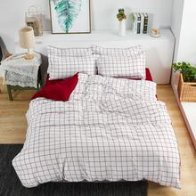 4Pcs/Set 24 Style Bed Sheet Pillowcase & Duvet Cover Sets Rabbit Carrot Lattice Bedding Set Love Aloe Cotton Home