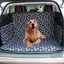 Pet Dog Car Seat Cover SUV Trunk Mat Cover Protector Carrying For Cats Dogs Transportation Travel Outdoor Paw Pattern