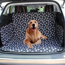חיות מחמד כלב רכב מושב כיסוי SUV תא מטען מחצלת כיסוי מגן נשיאה לחתולים כלבים תחבורה נסיעות חיצוני Paw דפוס