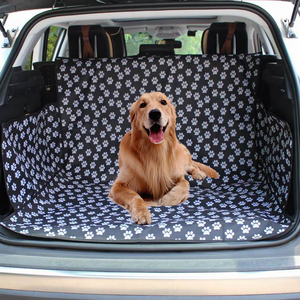 Image 1 - חיות מחמד כלב רכב מושב כיסוי SUV תא מטען מחצלת כיסוי מגן נשיאה לחתולים כלבים תחבורה נסיעות חיצוני Paw דפוס