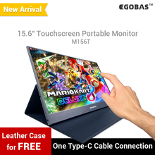 15.6 Portable Monitor Touch Screen Ultraslim For Gamers And Laptop Support Type-C, mini HDMI M156T Silver