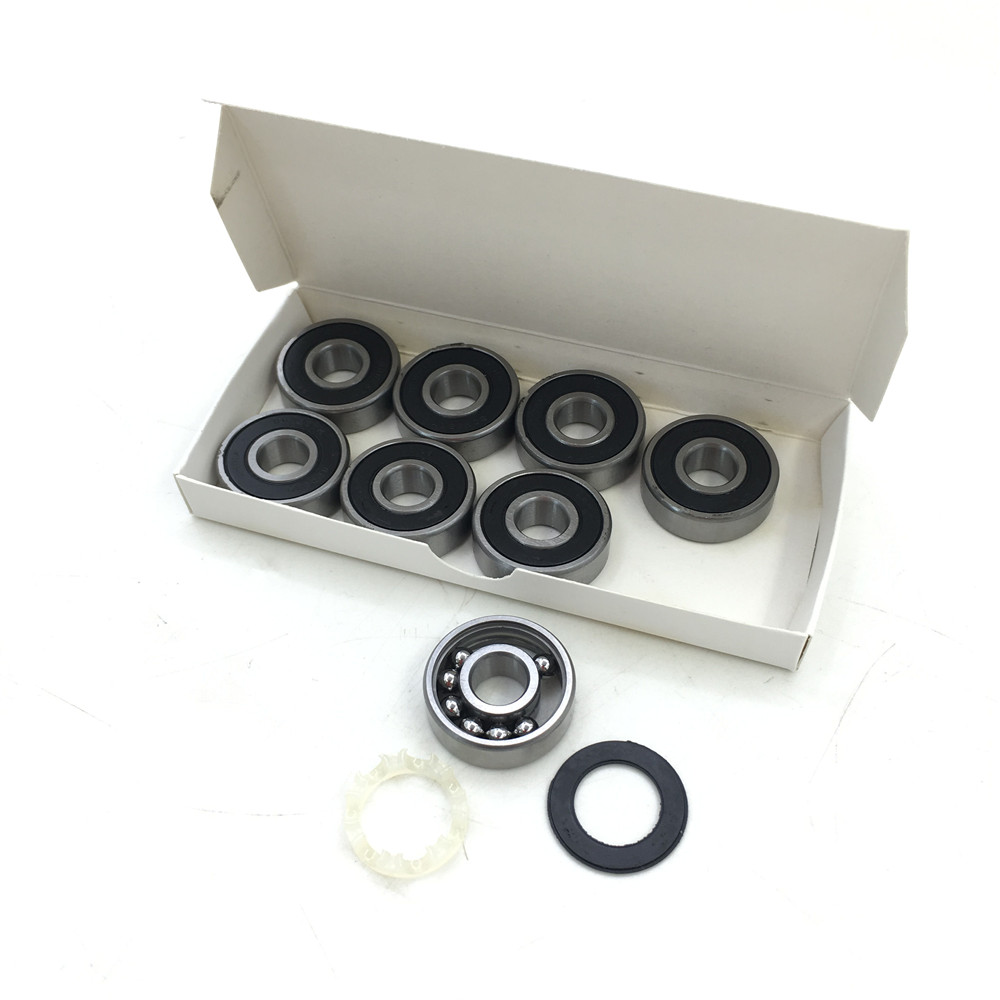8pcs/box Famous 608 bearing Super red skating Rollers 8mm Inline skate beairng 608-rs As you want Fast speed Scooter Rollings