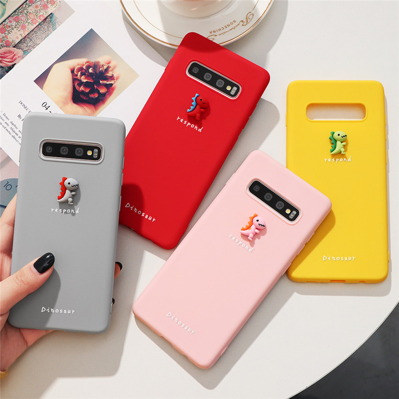 3D Cute Dinosaur Case For <font><b>Samsung</b></font> Galaxy J3 J5 J7 Prime A5 A7 2017 <font><b>2016</b></font> A8 <font><b>A9</b></font> J4 J6 A6 Plus 2018 S6 Edge Note 8 9 10 TPU Cover image