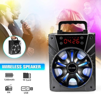 LED Digital Clock Wireless bluetooth-Speakers Outdoor Speakers  Subwoofer-Player Radio Surround-Stereo Alarm-Clock Mp3 Speaker