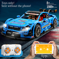 Technic C63 technology 1970PCS Compatible Legoinglys MOC 6687 APP Remote Control RC Car Set Building Blocks Toys for children