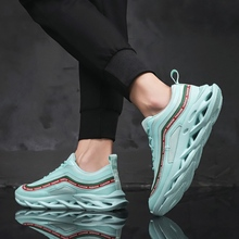 купить 2019 Men Autumn Breathable Fitness Sports Running Shoes for Men 39S Shoes Mesh Cushion Male  Jogging Trainers Trend Shoes Casual дешево