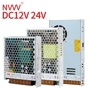 Image 2 - NVVV تحويل التيار الكهربائي 35 واط 50 واط 75 واط 100 واط 150 واط 350 واط LRS سلسلة رقيقة جدا LED سائق التيار المتناوب 110 فولت 220 فولت إلى 12 فولت 24 فولت تيار مستمر امدادات الطاقة