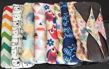 18*25cm 5Pcs Mixed Color Eco Life Panty Liner Cloth Menstrual Pad Mama Sanitary Reusable Soft Washable Charcoal Period Napkins