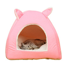 Warm Cotton Cat Cave House Winter Soft Pet Bed for Puppy Small Dog Cushion Nest Rabbit Product