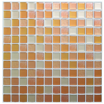 Mosaic Wall Tile Peel and Stick  Self adhesive Backsplash DIY Kitchen Bathroom Home Wall Sticker Vinyl 3D 18