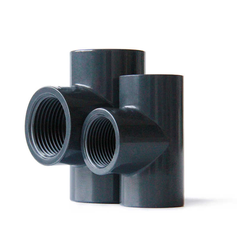"20mm 25mm 32mm 40mm 50mm ID Naar 1/2 ""3/4"" 1 ""1- 1/4 ""1-1/2"" Bsp Tee UPVC Pijp Adapter Water Connector"