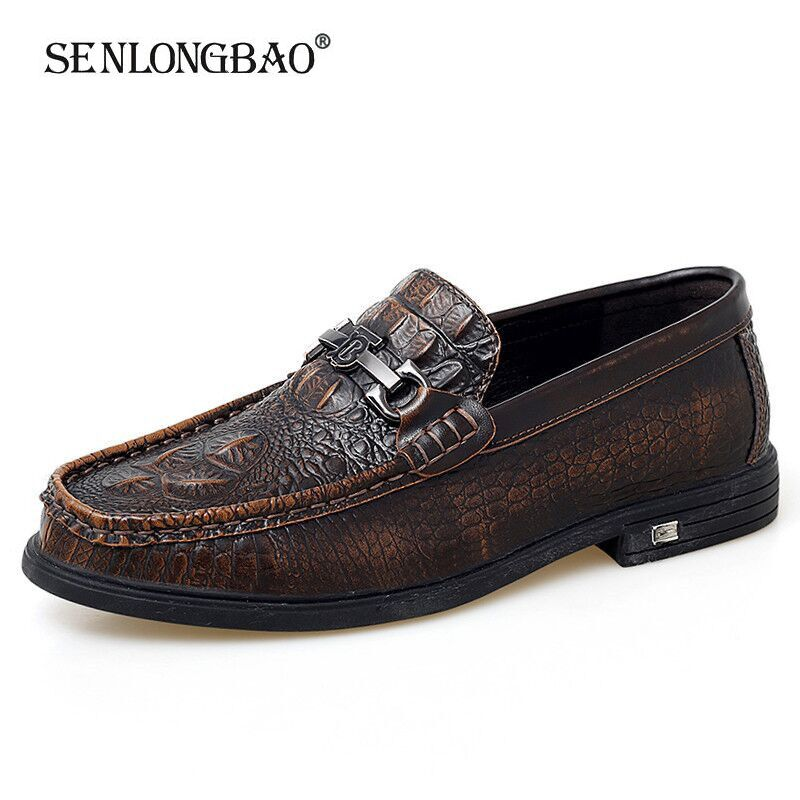 2020 New Brand Men's Shoes Fashion Men's Leather Casual Shoes Men's Handmade Flat Shoes Men's Driving Shoes Big Size 38-47