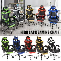 5 Colors PU Leather Racing Gaming Chair Office High Back Ergonomic Recliner With Footrest Professional Computer Chair Furniture