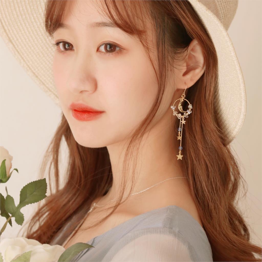 Xingyue fée fille coeur ins boucles d'oreilles oreille clips Sen super fée visage mince mignon bijoux - 2
