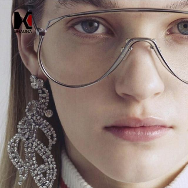 SHAUNA Fashion Integrated Clear Red Yellow Sunglasses Women Retro Goggle Sun Glasses Men Pink Mirror Shades