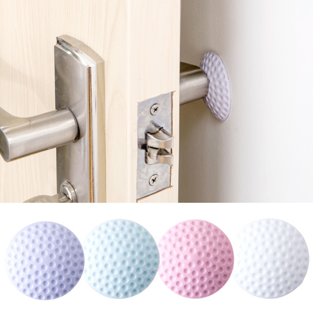 New Thickening Mute Door Rear Wall Crash Pad Golf Shape Rubber Anti-collision Pad Safe Door Handle Lock Protection Wall Stick