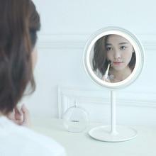 Креативный USB круг макияж зеркало лампа 360 градусов вращающийся светодиодный платье до jing zi deng элегантное настольное зеркало