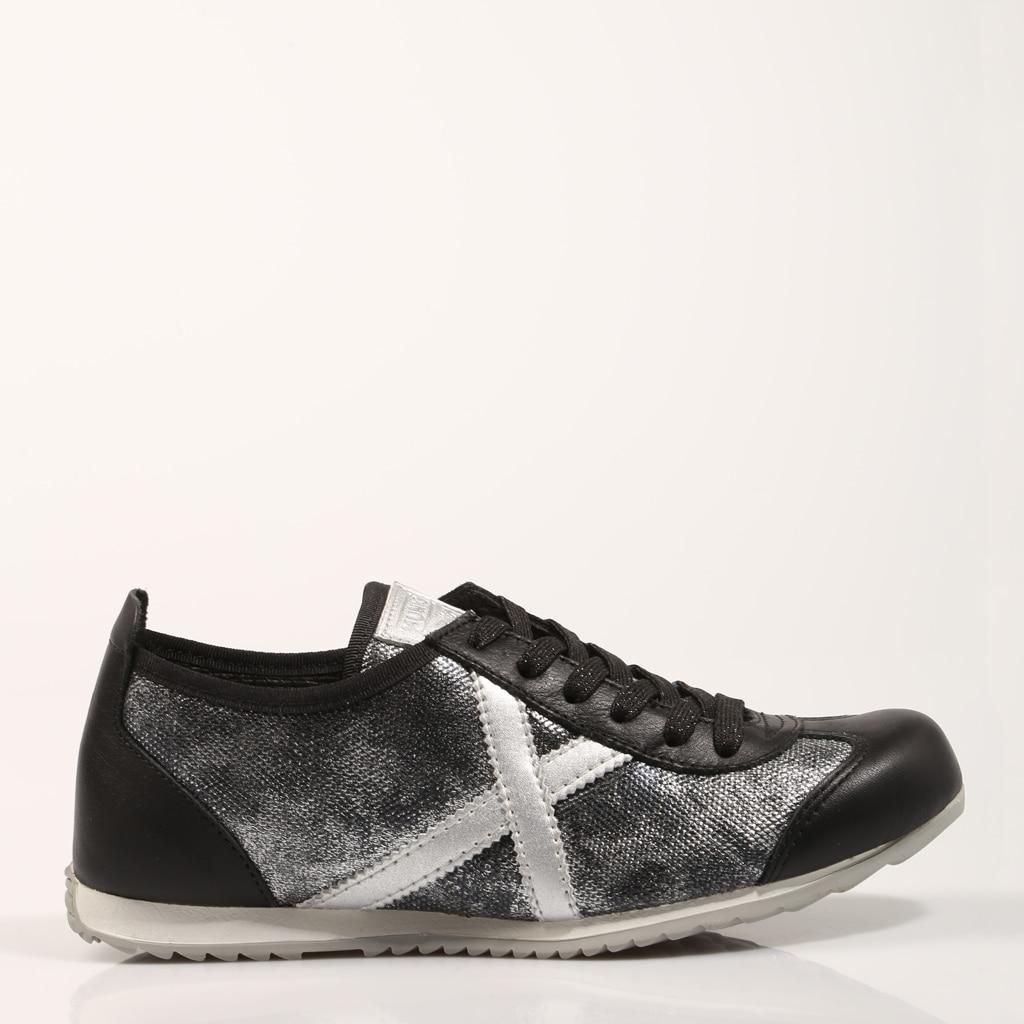 MUNICH ZAPATILLAS OSAKA 431 GRIS Gris Lona Mujer – Gray SNEAKERS Woman Shoes Casual Fashion 73840