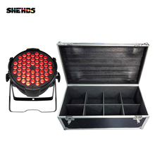 Flight Case With 4 6 8 Pieces LED Par 54x9W RGB 6in1 Lighting LED Stage Lighting For DJ Disco KTV Party Theater Performance cheap SHEHDS Stage Lighting Effect DMX Stage Light 486W SHE-BAP5409C 90-240V Professional Stage DJ LED 3in1 RGB and mixed color