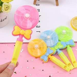 4Pcs Children Lollipop Shape Windmill Whistle Musical Developmental Outdoor Toy