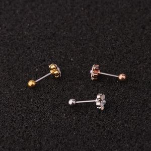 1 шт. геометрические циркониевые серьги-гвоздики из хирургической стали для пирсинга, маленькая серьга-тоннель, ювелирные украшения для жен...