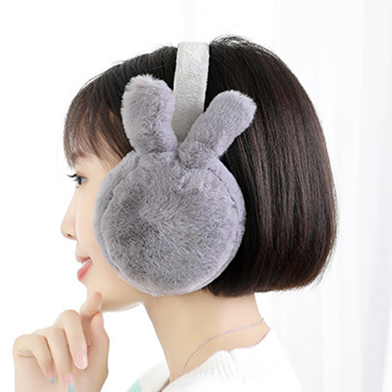 Newest Winter Plush Ear Muffs Foldable Cartoon Women Warm Earmuffs Ear Warmer