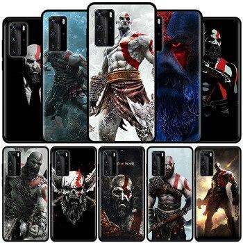 Dios de la guerra Kratos para Huawei P20 P30 P40 Lite E P Smart Plus 2019 Mate 10 20 Pro del teléfono del Tpu del Coque Carcasa