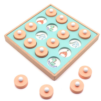Children Parent And Child Early Childhood Mathematics Memory Cognitive Game yi zhi qi with Intellectual Unisex Training Toy