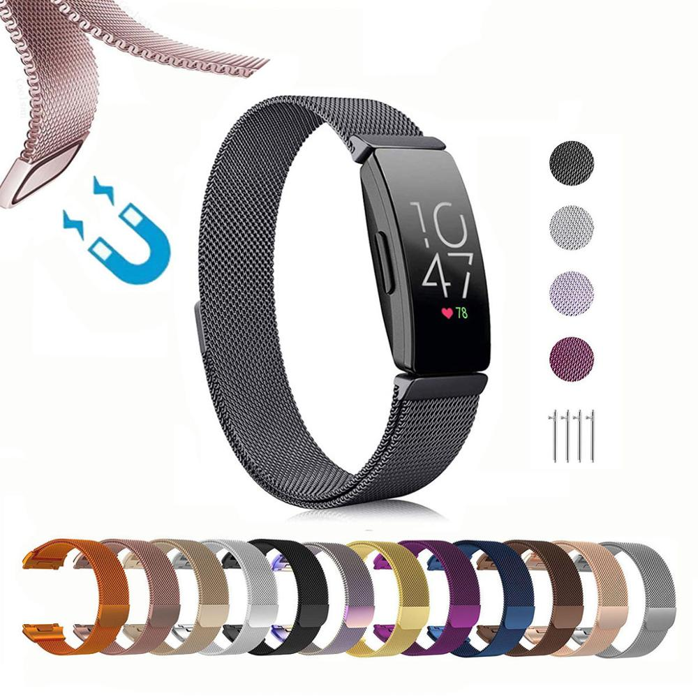 For Fitbit Inspire HR / Ace2 Band Replacement Milanese Loop Strap Magnetic Stainless Steel Bracelet Betl For Fitbit Inspire