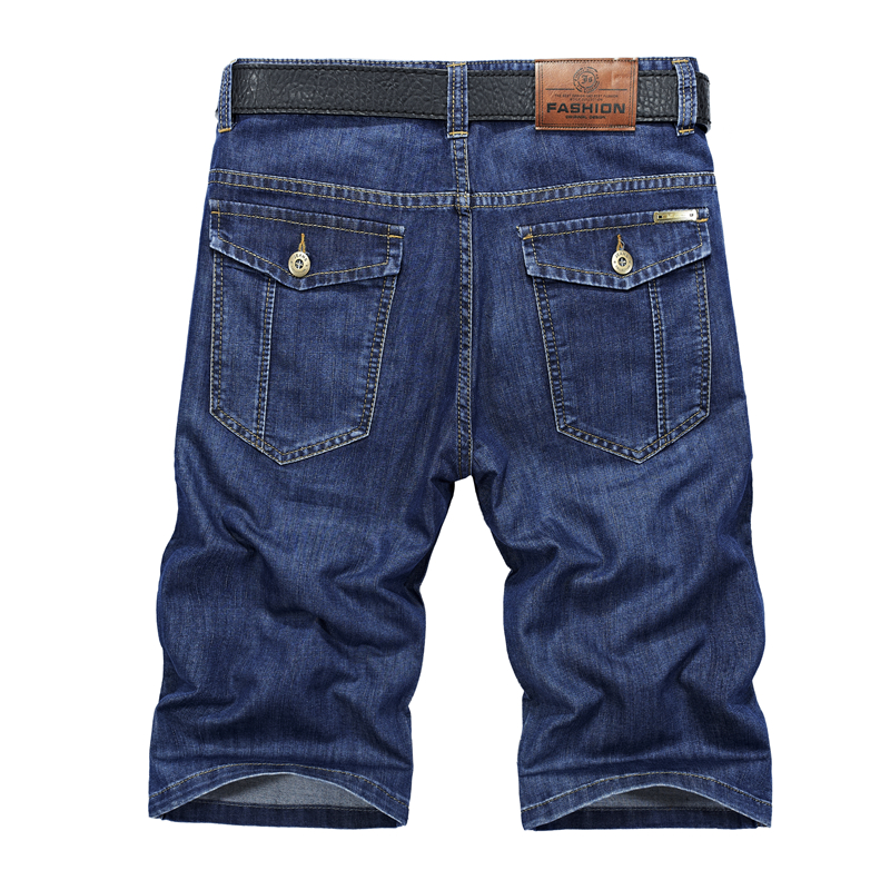 ICPANS Cargo Shorts Men Cotton Polyester Solid Straight Pockets Mens Denim Shorts Casual 2019 Summer  Big Size
