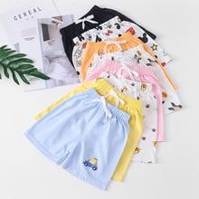 Loose Shorts Waist-Trousers Casual-Pants Elastic Baby-Girls Cotton Beach Summer Children