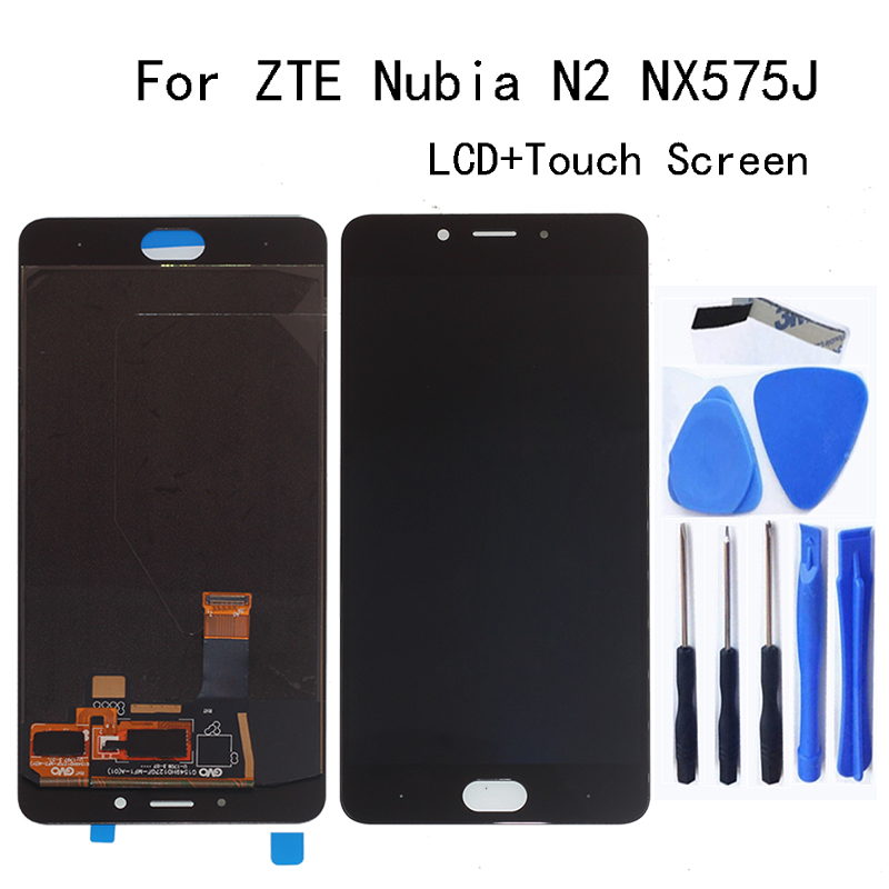 """5.5"""" AMOLED LCD Display for ZTE Nubia N2 NX575J LCD Display touch screen digitizer assembly for ZTE Nubia N 2 LCD Repair parts(China)"""