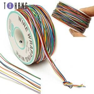 Cuivre plaqué étain 250M 8 fils couleur isolé P/N B-30-1000 30AWG fil emballage gaine de câble bobine pour carte mère d'ordinateur portable