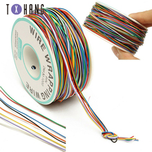 Tin Plated Copper 250M 8-Wire Colored Insulated P/N B-30-1000 30AWG Wire Wrapping Cable Wrap Reel for Laptop Motherboard