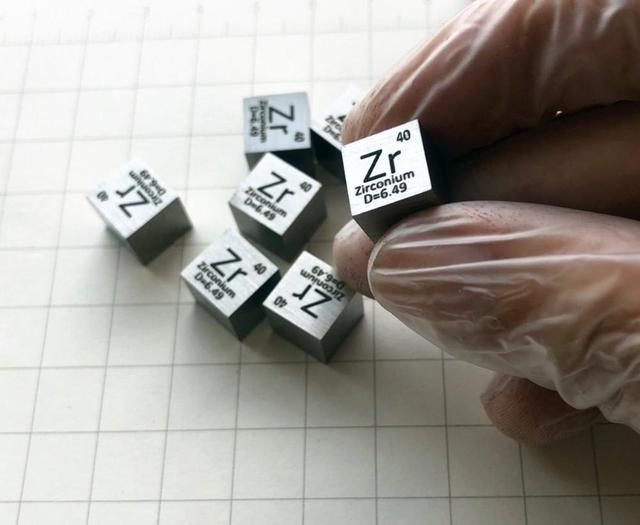 99.2% High Purity Zirconium Metal Zr 6.46g Carved Element Periodic Table 10mm Cube
