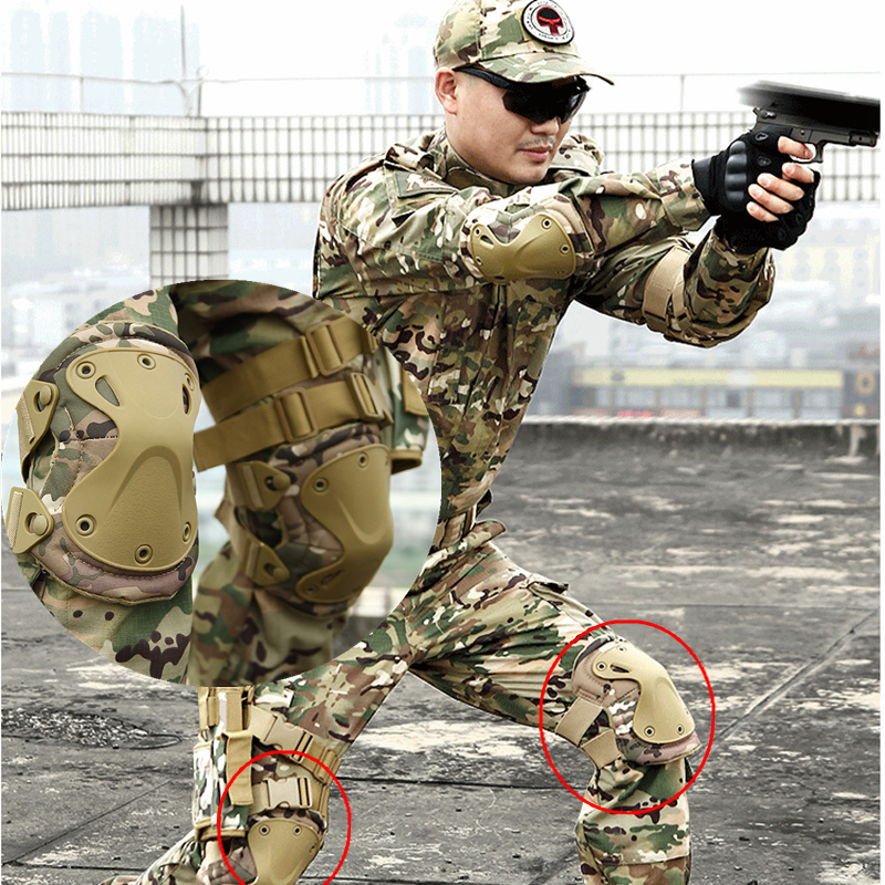 Military Tactical Knee Pads Army Elbow Knee Outdoor Sports Airsoft Training Hunting Skating Knee Support Support Safety Euipment