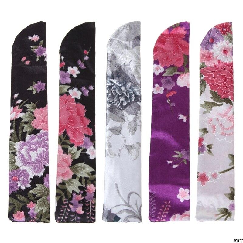 Elegant Silk Hand Fan Bag Holder Pouch Folding Hand Fan Case Party Wedding Bags