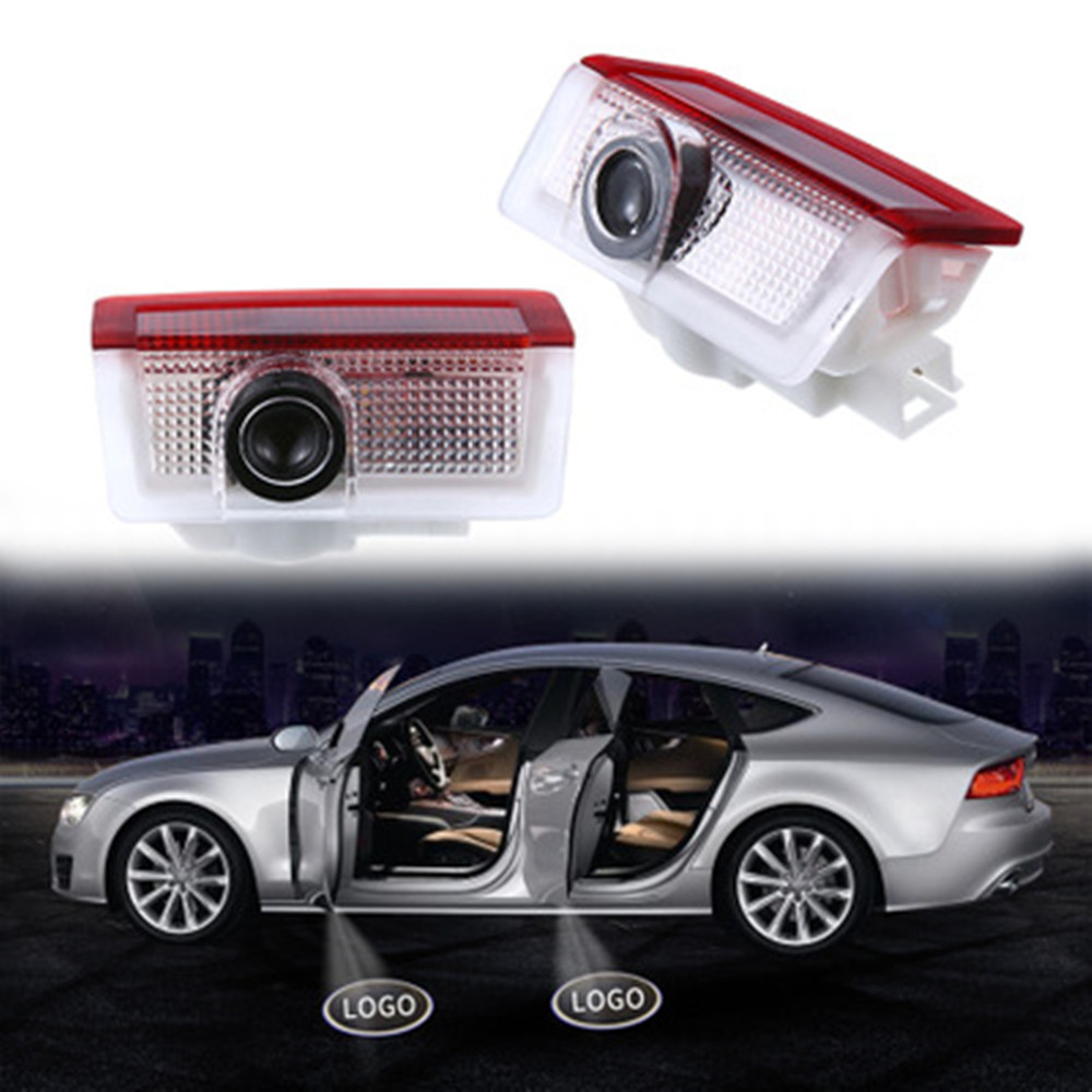 2pcs For Mercedes Benz A C E M Class AMG 4MATIC W205 W176 W212 W166 A180 C200 Styling Car LED Door Logo Welcome Projector Light