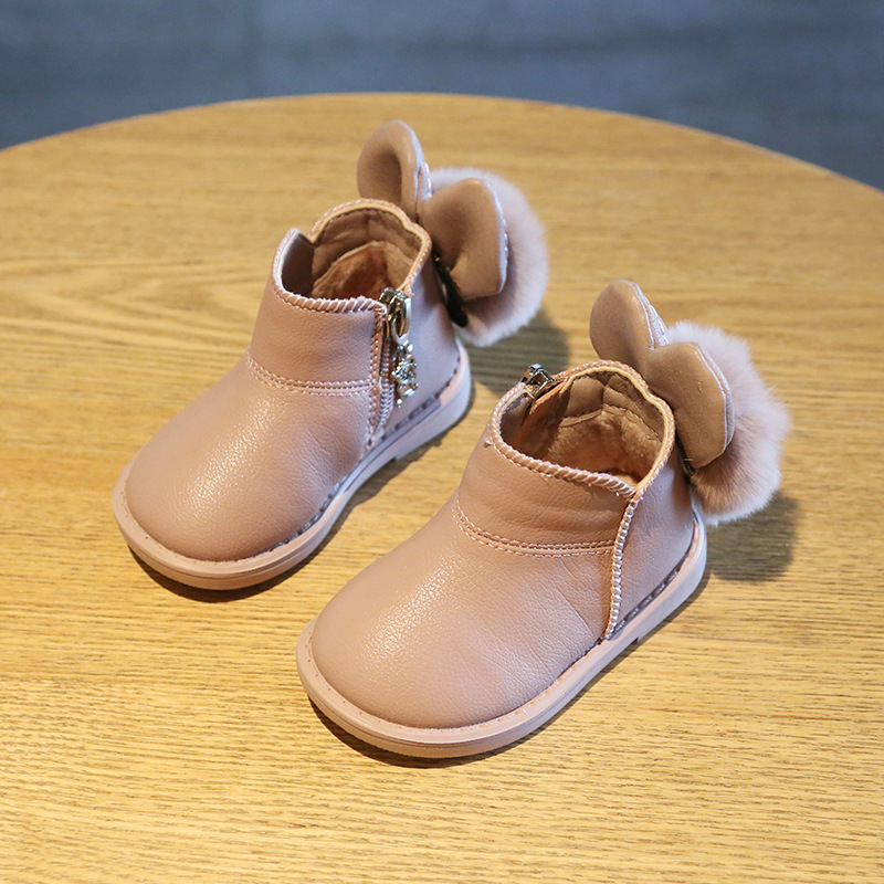 Baby Shoes Winter 0-2 Years Old Baby Warm Toddler Shoes Autumn And Winter Soft Bottom Princess Baby Shoes