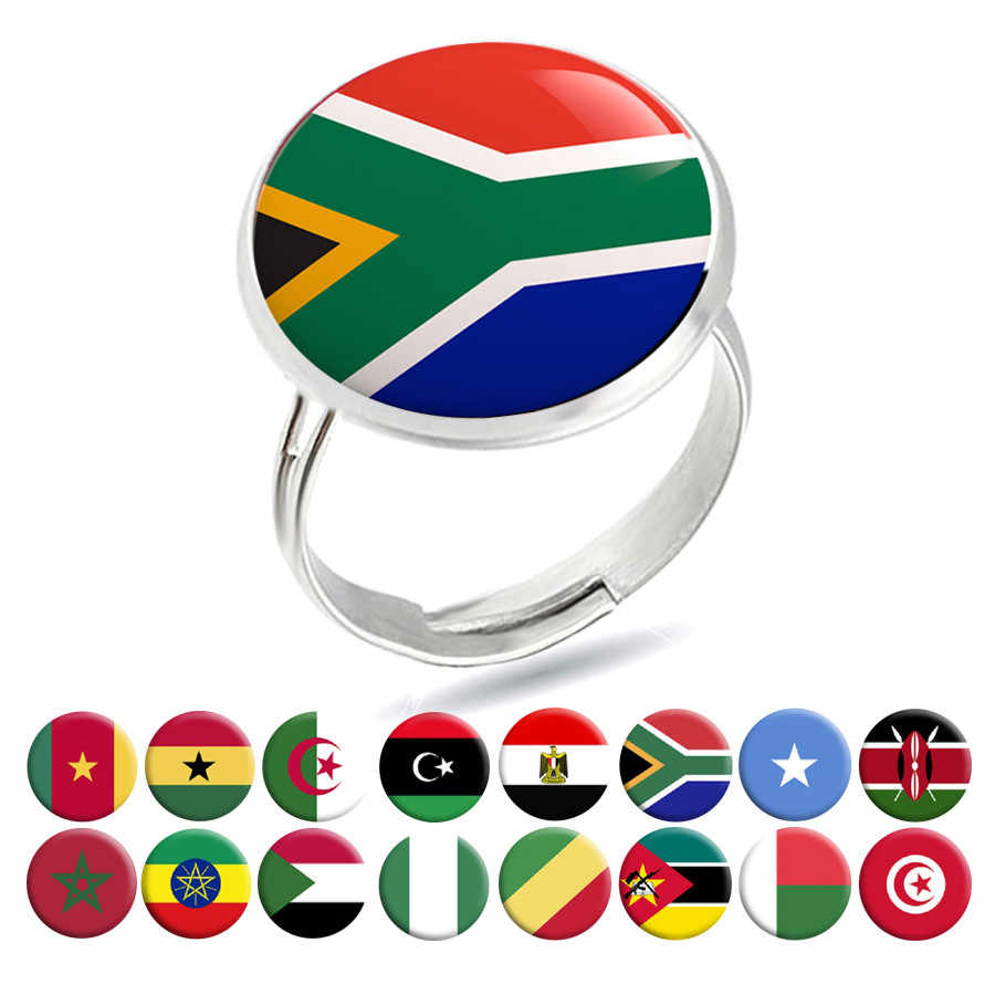 National Flag Rings Egypt South Africa Somalia Kenya COG Nigeria Sudan Morocco Algeria Ghana Tunisia Rings Jewelry Gothic