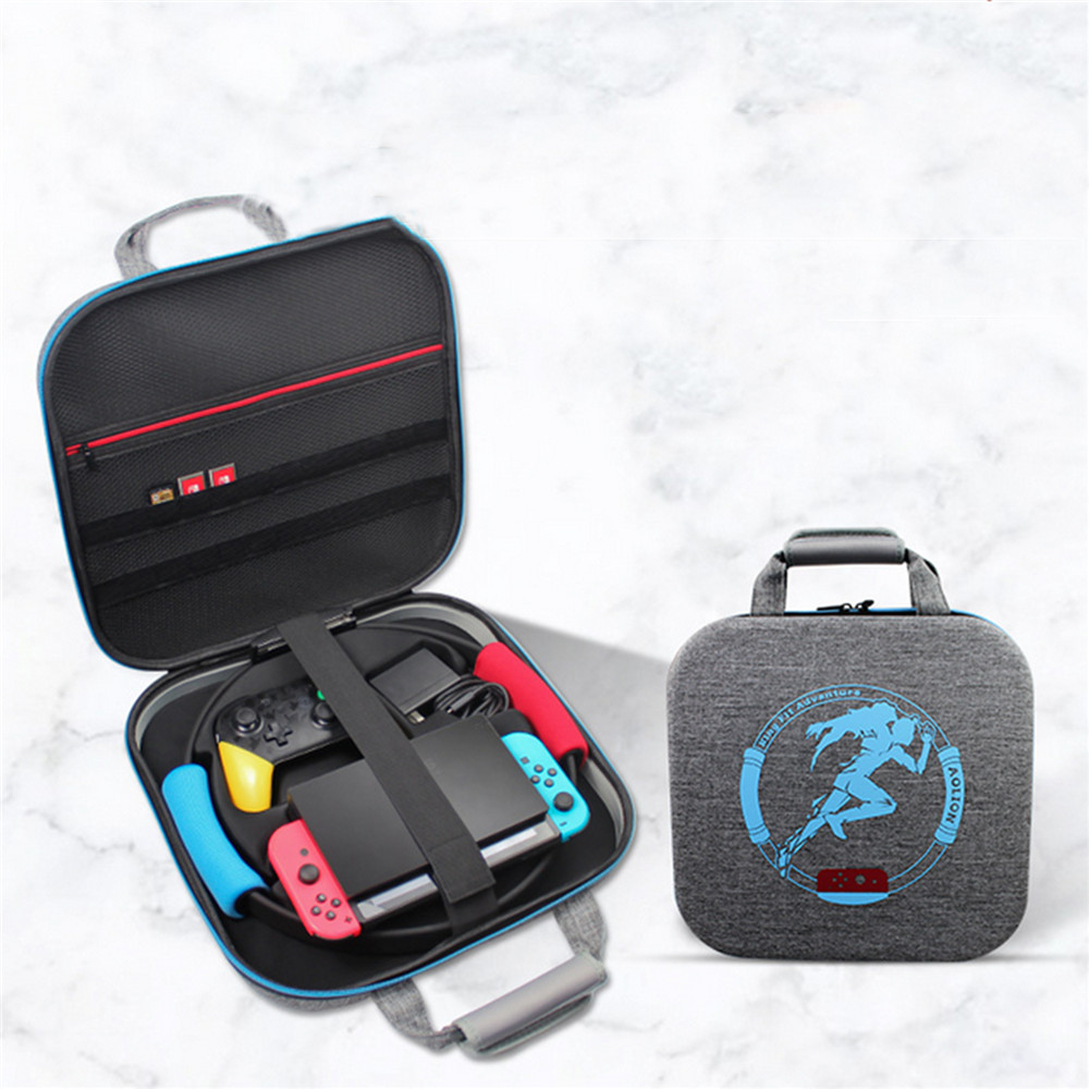 Portable Storage Bag Ring Fit Adventure Carrying Case Multi-Compartment for Nintend Switch NS Joy-con Game Accessories