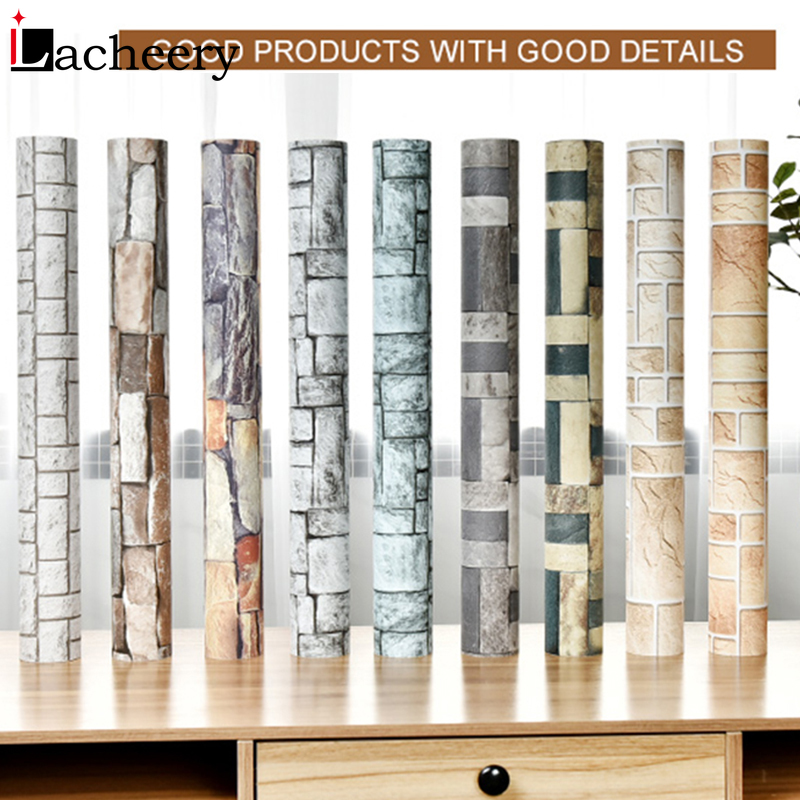 Maze Brick Style Waterproof Self Adhesive Wallpapers Living Room  Bathroom Vinyl Contact Paper Home Decor Mural Modern Fashion