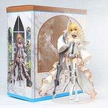 Sexy PVC Figure Nero Anime Doll fgo Fate/Grand Order sabre Bride abito da sposa modello nuovo 24cm per i fan regali per bambini
