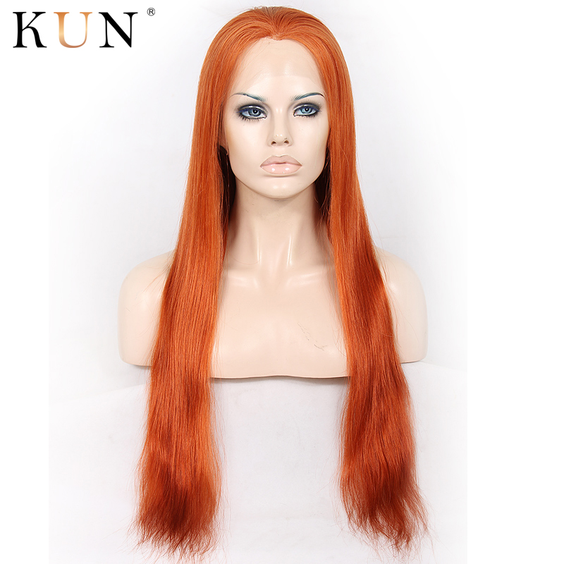 #130 Soft Red Straight Human Hair Wig Ombre Lace Front Human Hair Wigs 13x4 13x6 Lace Front Wig 150 180 Density Chinese Remy