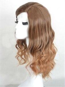 Image 2 - W stylu brązowe kręcone boczne rozstanie syntetyczne odporne na ciepło włókien syntetycznych peruki z włosów hermiona Jean Granger Cosplay peruki + peruka Cap