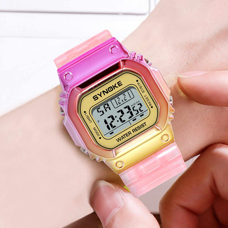 PANARS Donne Della Vigilanza Elettronica di Colore di Pendenza Display Digitale 3Bar Orologio Impermeabile Signore Unisex Orologi di Nuovo Modo reloj mujer
