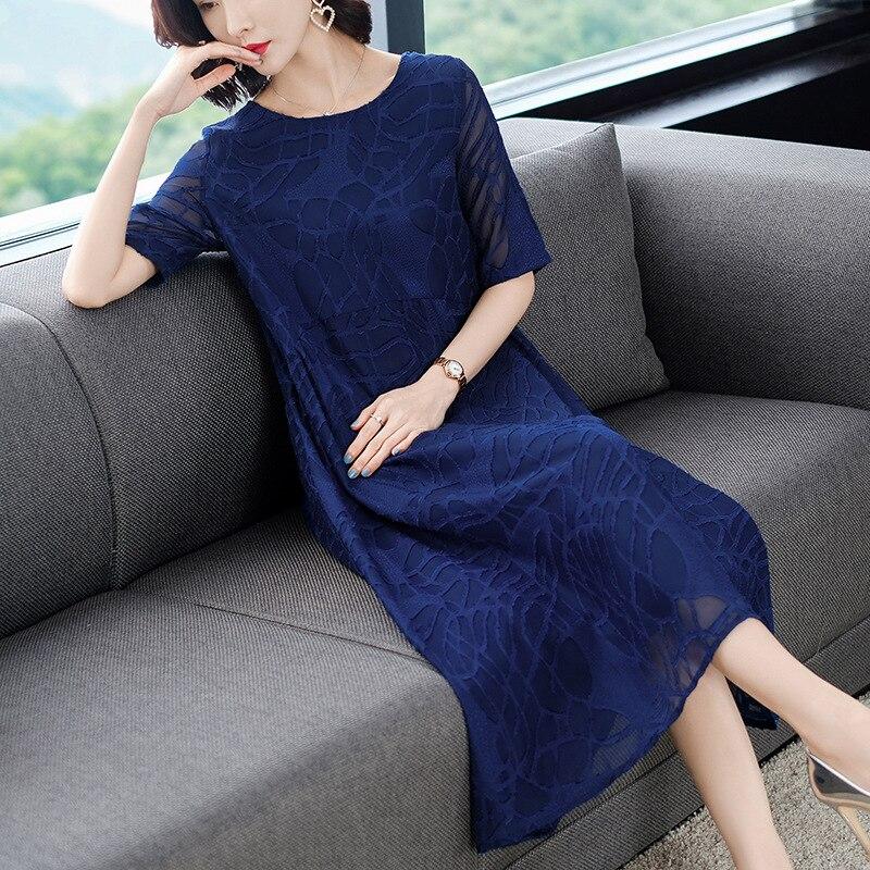 2019 Middle-aged Women Dress Large Size Dress 200 Debutante Elegant Dress Skirt Dress Long