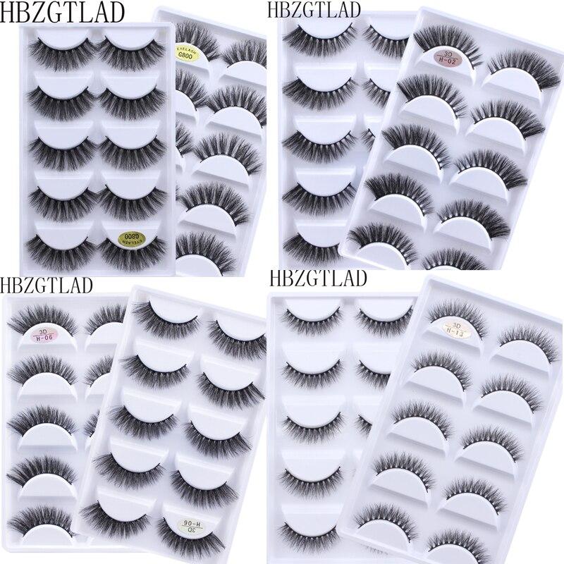 500 pairs 3d vison cabelo natural cruz cilios posticos longo baguncado maquiagem falso olho cilios